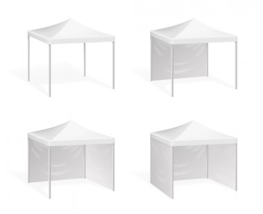 Vector canopy. Pop up tent for outdoor event