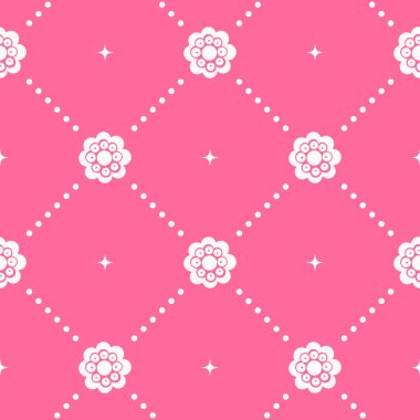 Pink pattern seamless in baroque style