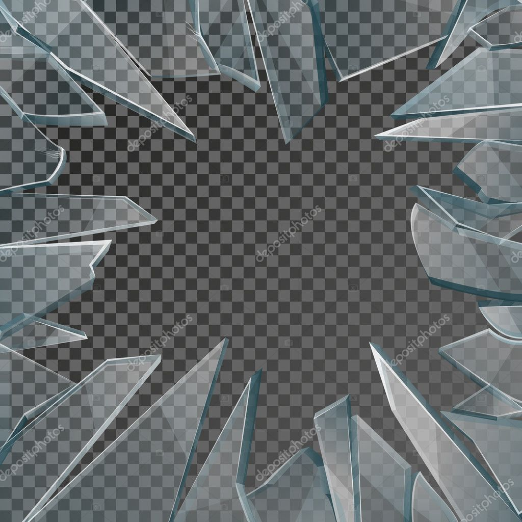 zerbrochenes glas fenster rahmen vektor stockvektor mssa 126563004. Black Bedroom Furniture Sets. Home Design Ideas