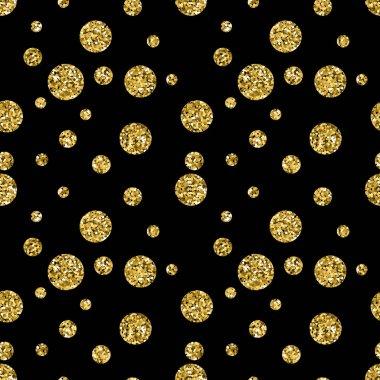 Glitter dotted seamless patterns