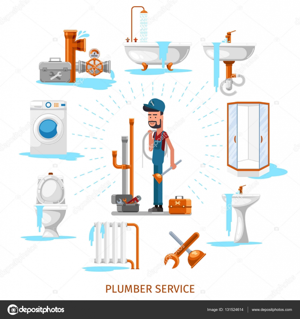 Plumber or maintenance engineer at plumbing work vector for How does plumbing work