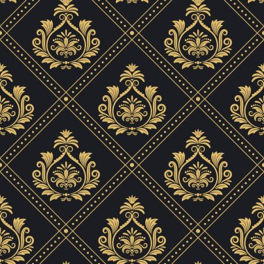 Victorian regal pattern seamless baroque