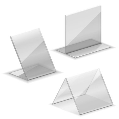 Acrylic vector empty plastic holder for business card