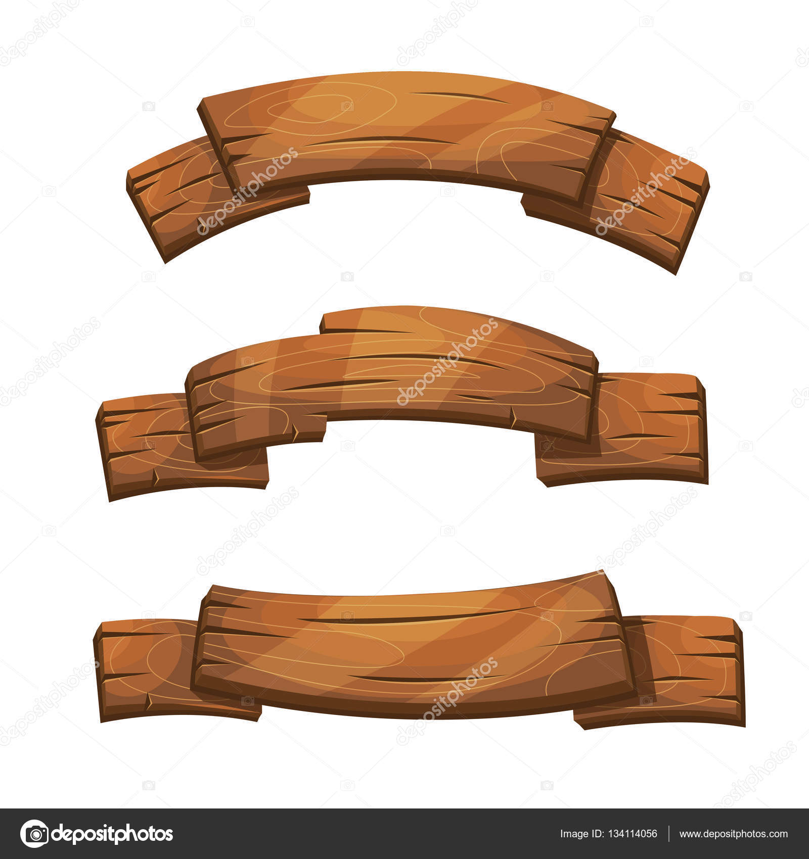 Comic wooden banners and signs — Stock Vector © MSSA ...