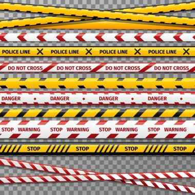 Danger caution tapes for police accident