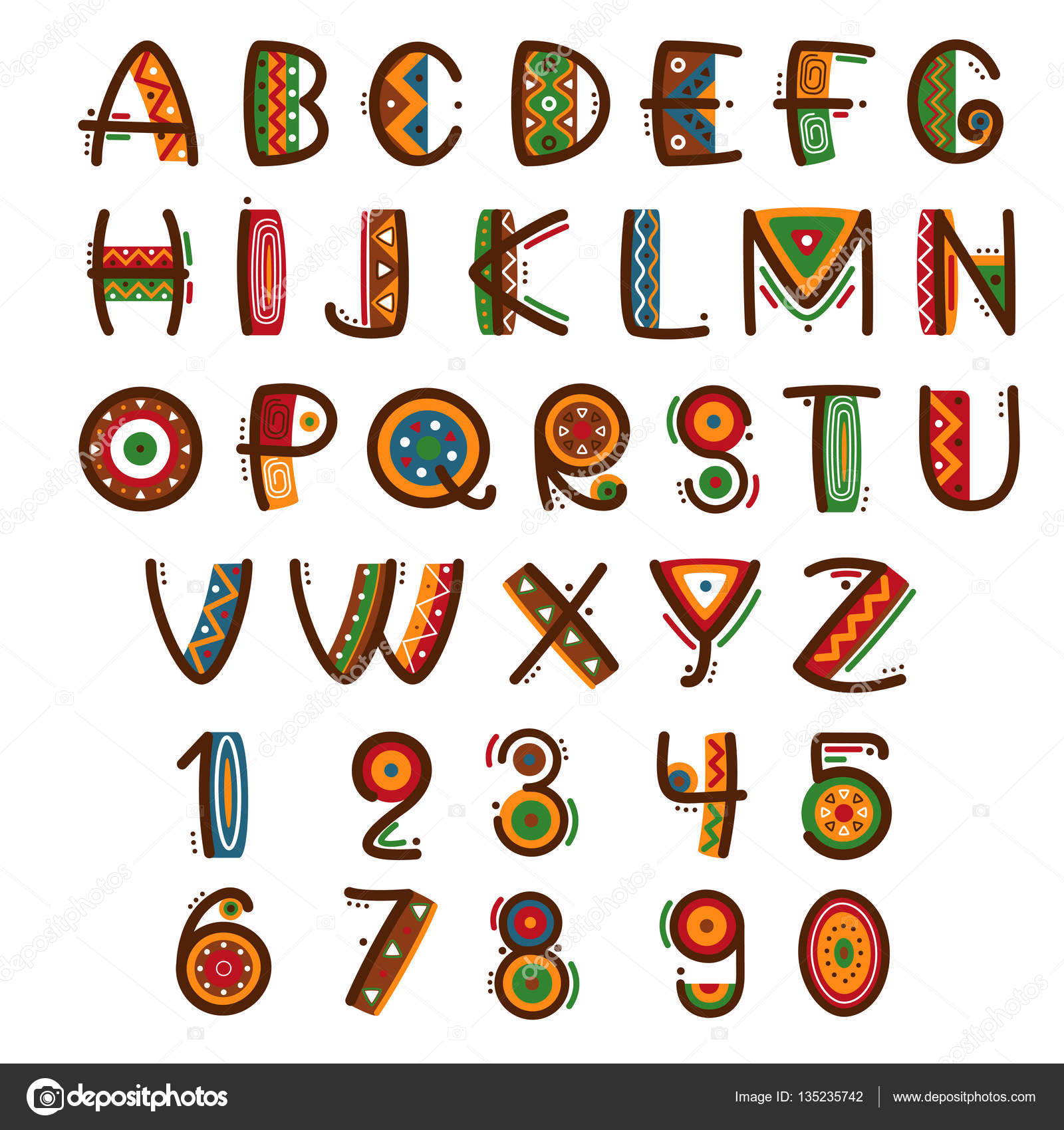 African Alphabet Letters