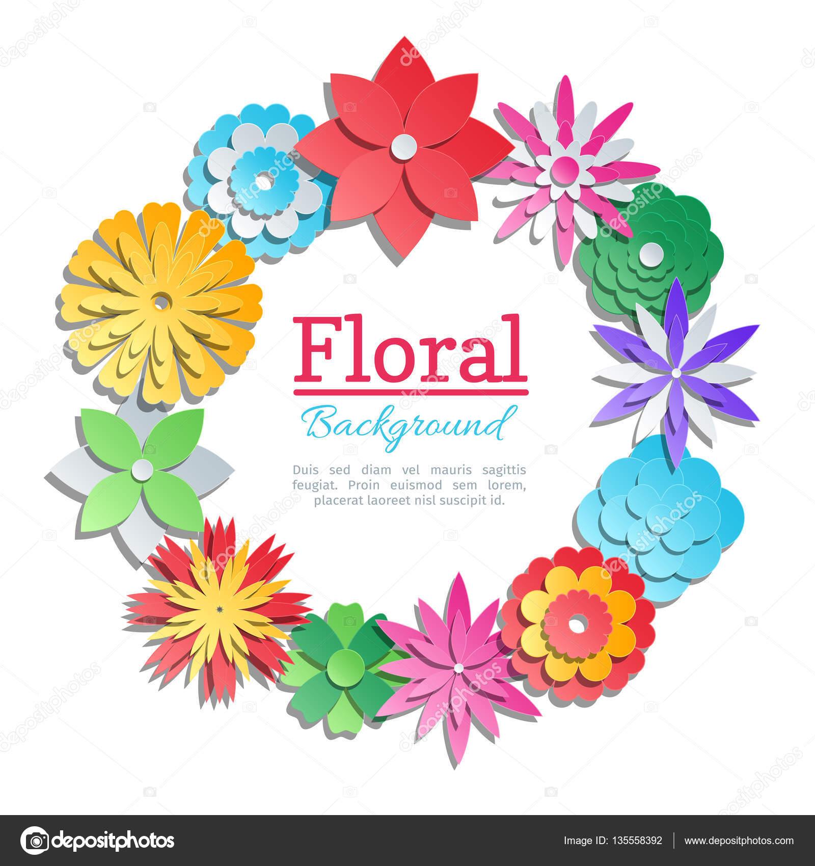 Origami flowers invitation card vector paper cut floral design origami flowers invitation card vector paper cut floral design template stock vector mightylinksfo