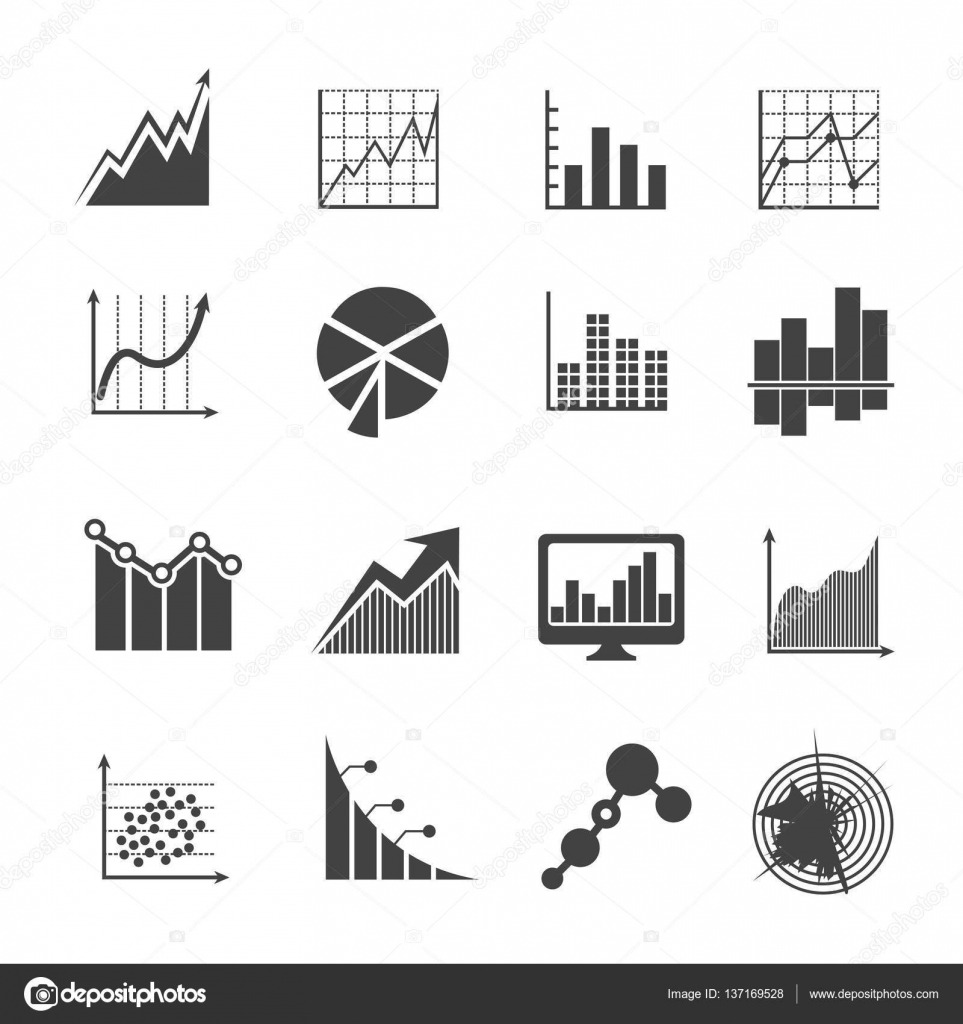 Business data analytics icons measurements and financial diagrams measurements and financial diagrams vector signs stock vector pooptronica