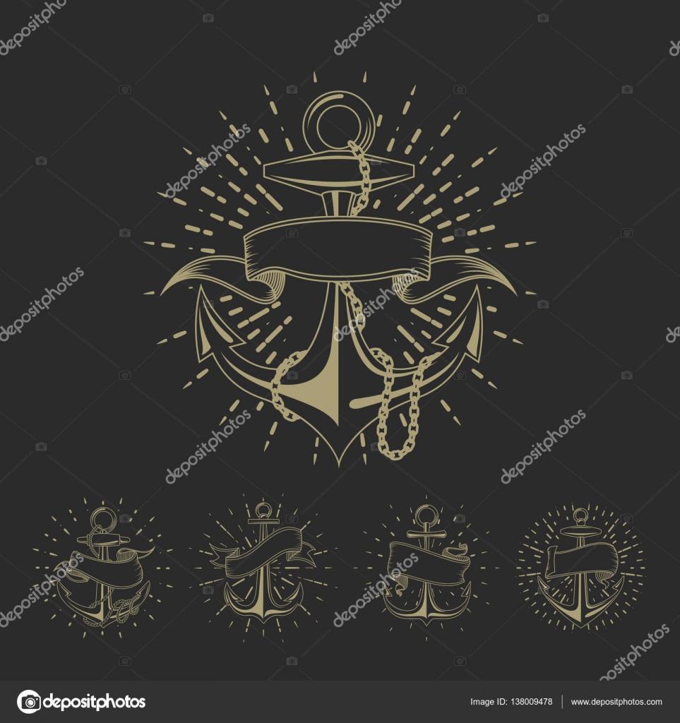 Tatuajes Tailandeses Plantillas Ancla Marítimo Marinero Del