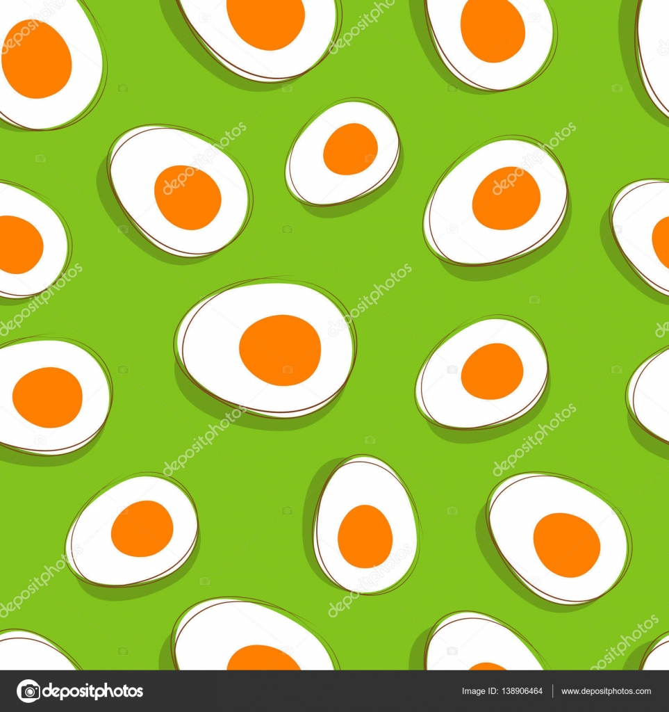 easter egg pattern vector yellow eggs on green delicious spring
