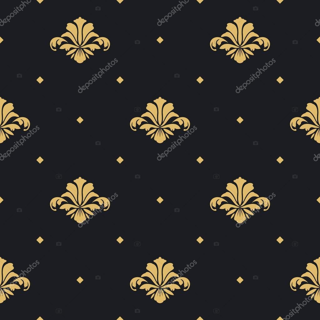 Baroque royal design wallpaper