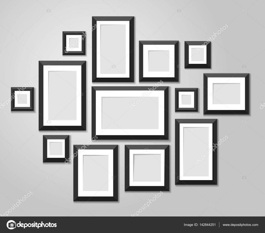 Plantillas de pared cuadro marco aisladas sobre fondo blanco. Marcos ...