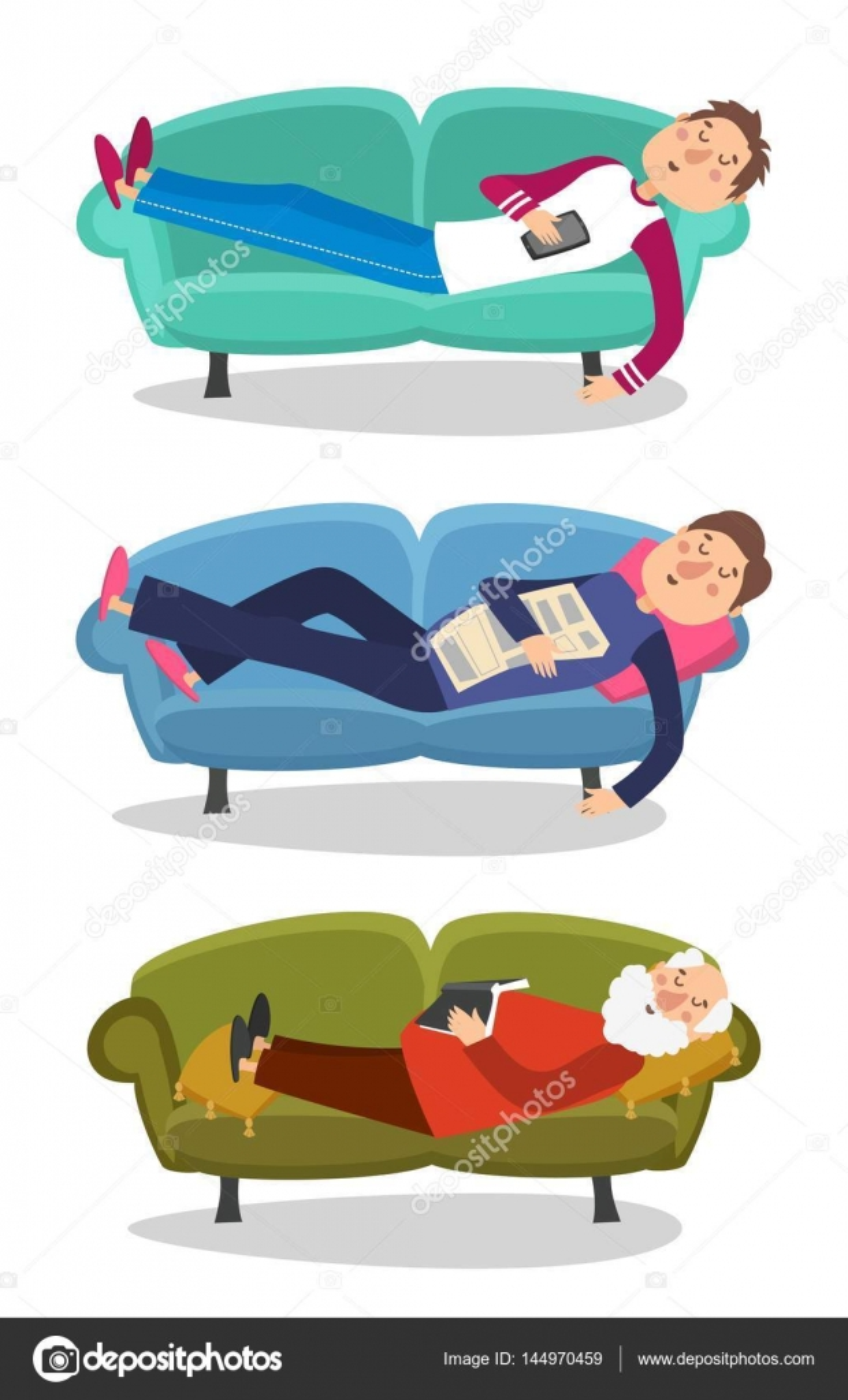 Peachy Clipart Man Sleeping On Couch Man Sleep On Sofa Vector Ibusinesslaw Wood Chair Design Ideas Ibusinesslaworg