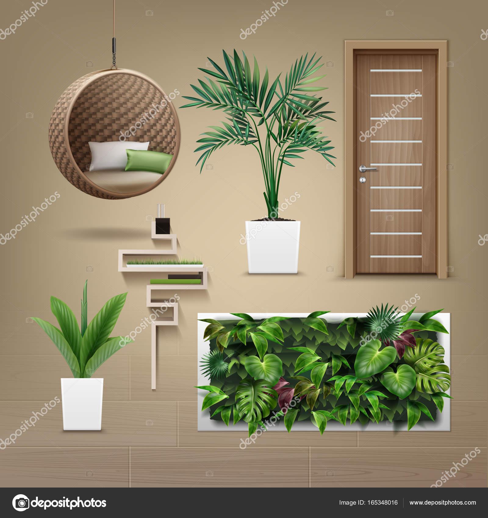 Mobilier Eco Minimaliste Vector Image Vectorielle Mssa C 165348016