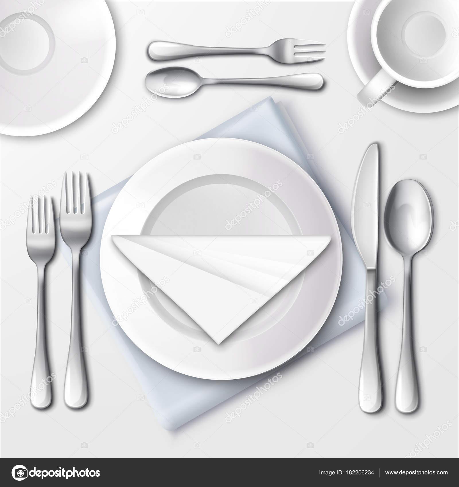 Restaurant table setting — Stock Vector © MSSA #182206234