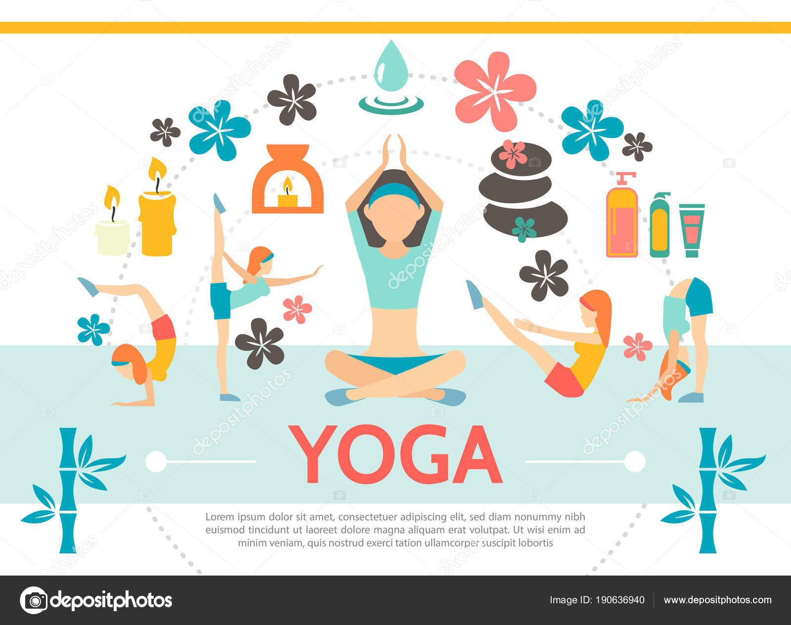 Plantilla de plano Yoga — Vector de stock © MSSA #190636940