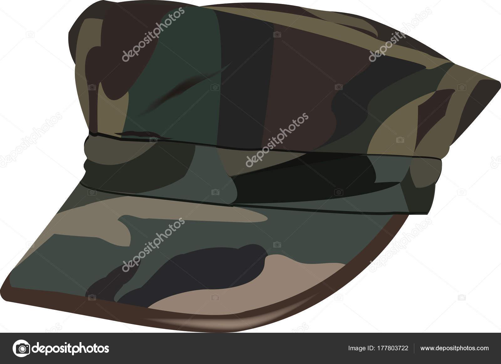 5d4fb65de72f1 Sombrero de camuflaje militar americano — Archivo Imágenes Vectoriales