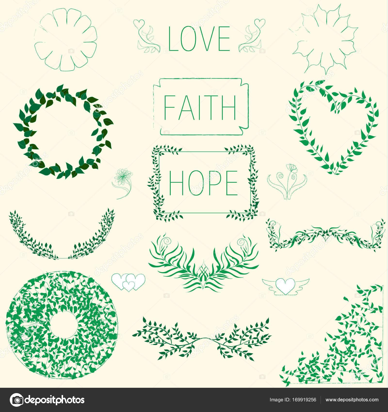 Marcos verdes florales — Archivo Imágenes Vectoriales ...