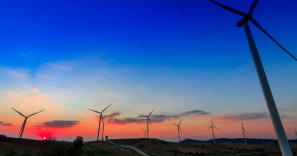 Větrná turbína slunce časová prodleva
