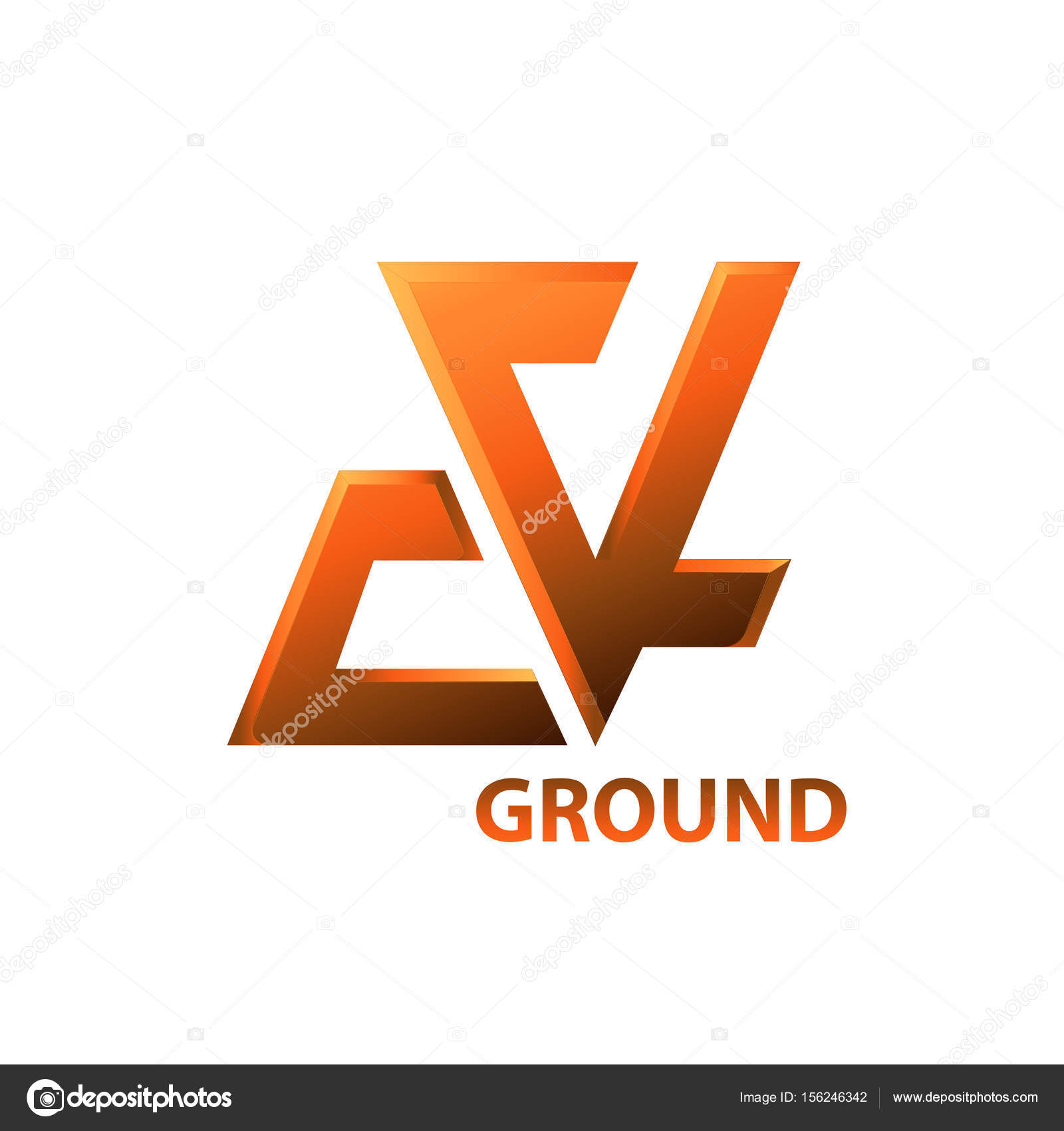 Logo Element Symbol Ground Stock Vector Essapheargmail