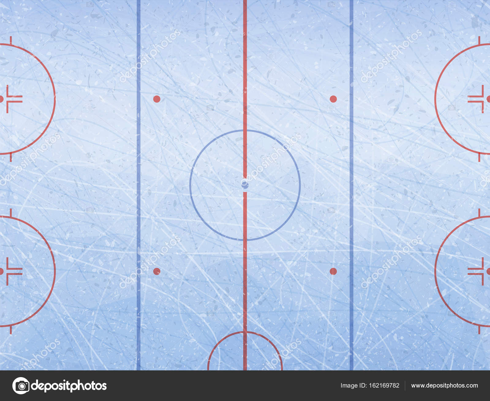 Vector de la pista de hockey sobre hielo. Hielo azul de texturas ...