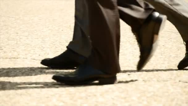 group of business people walking together slow motion team