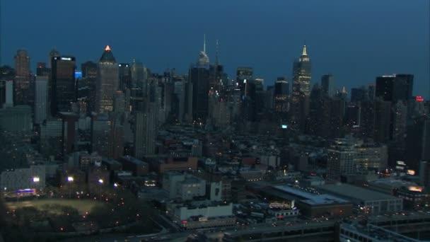 Midtown manhattan new york dawn letecké