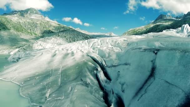 Flug über Eis-Gletscher, die globale Erwärmung Symbol Klima Hintergrund ändern