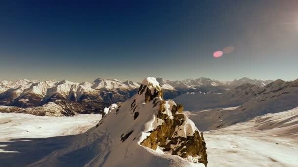 výhled na sněhu hory zimní krajina