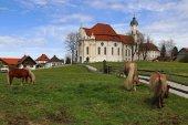 Fotografie The famous Wieskirche in Steingaden in Bavaria (Germany).