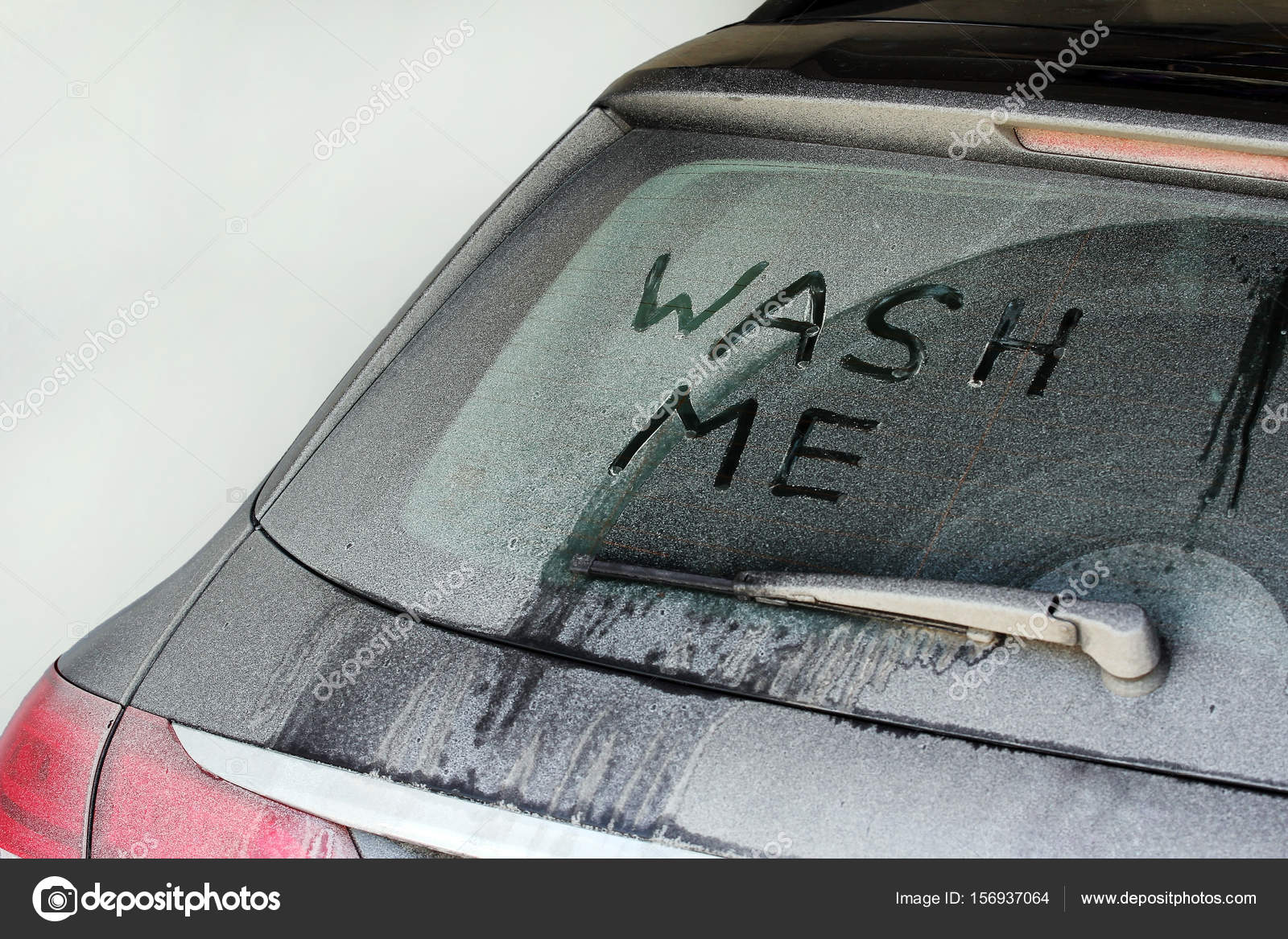 Washing Car In Winter >> Wash Me A Very Dirty Car In Winter Stock Photo