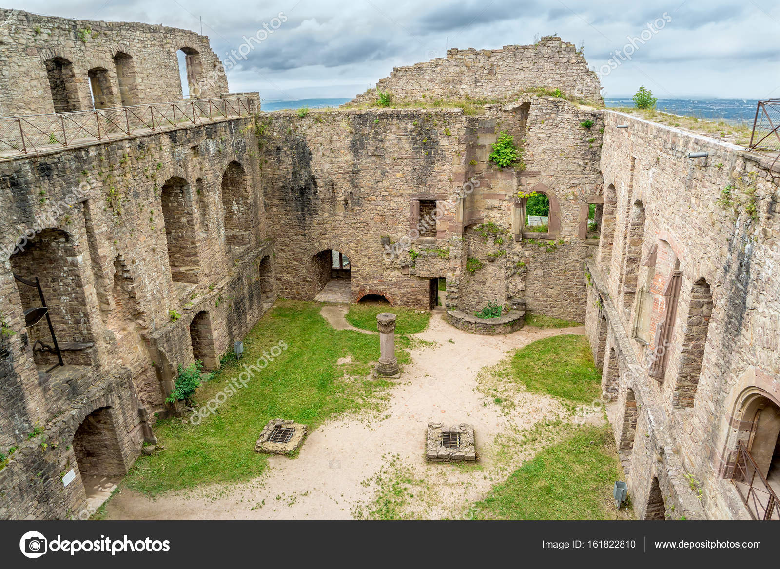 Old castle ruins baden baden germany stock photo for Quoka baden baden