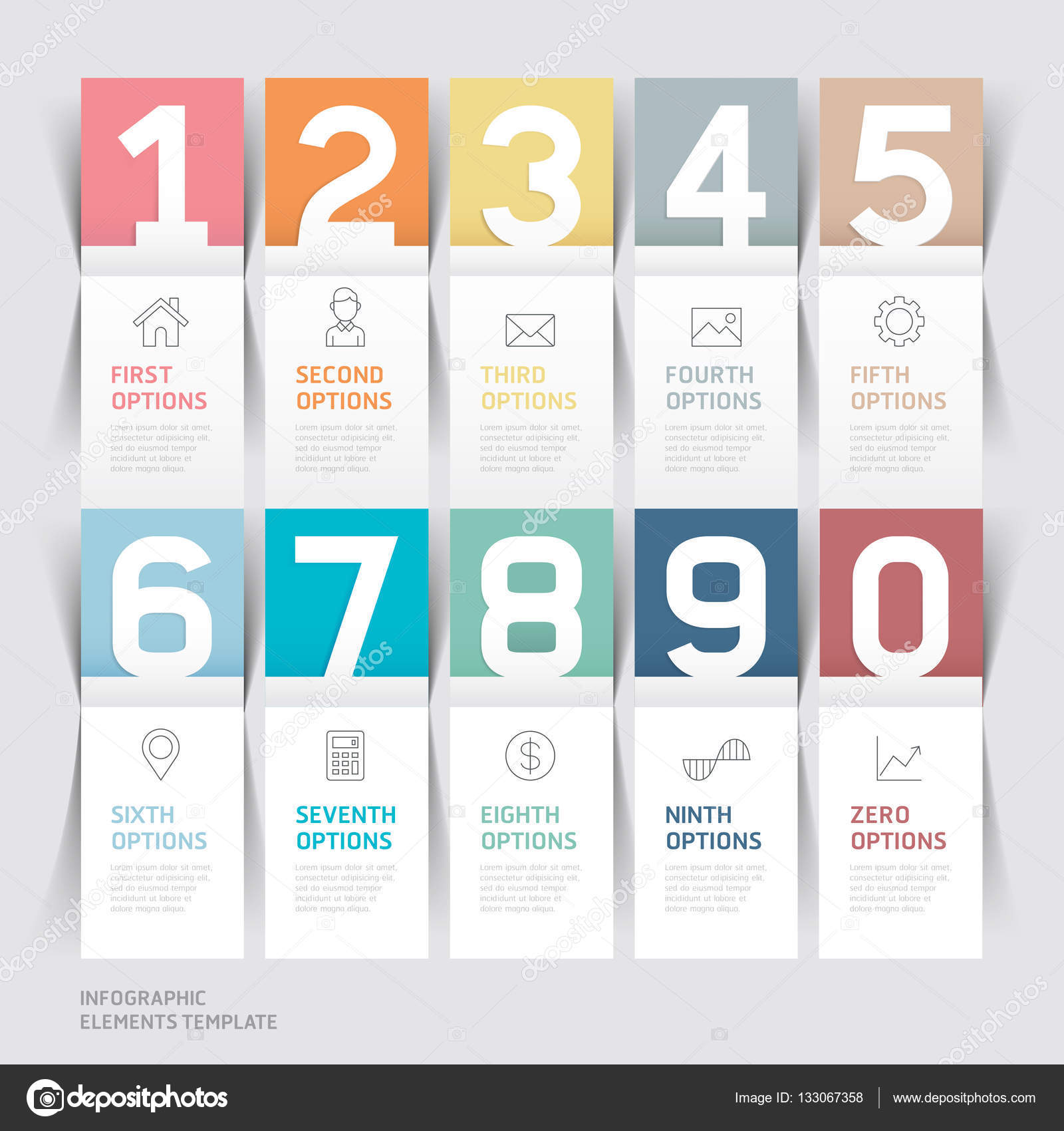 Business brochures template paper folding style stock vector business brochures template paper folding style vector illustration can be used for workflow layout diagram number options web design infographics and wajeb Gallery