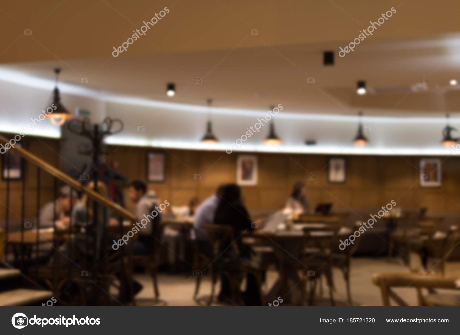 achtergrond wazig abstracte restaurant warme avond kleuren van caf interieur vintage intreepupil bar hall foto van gorlovkv