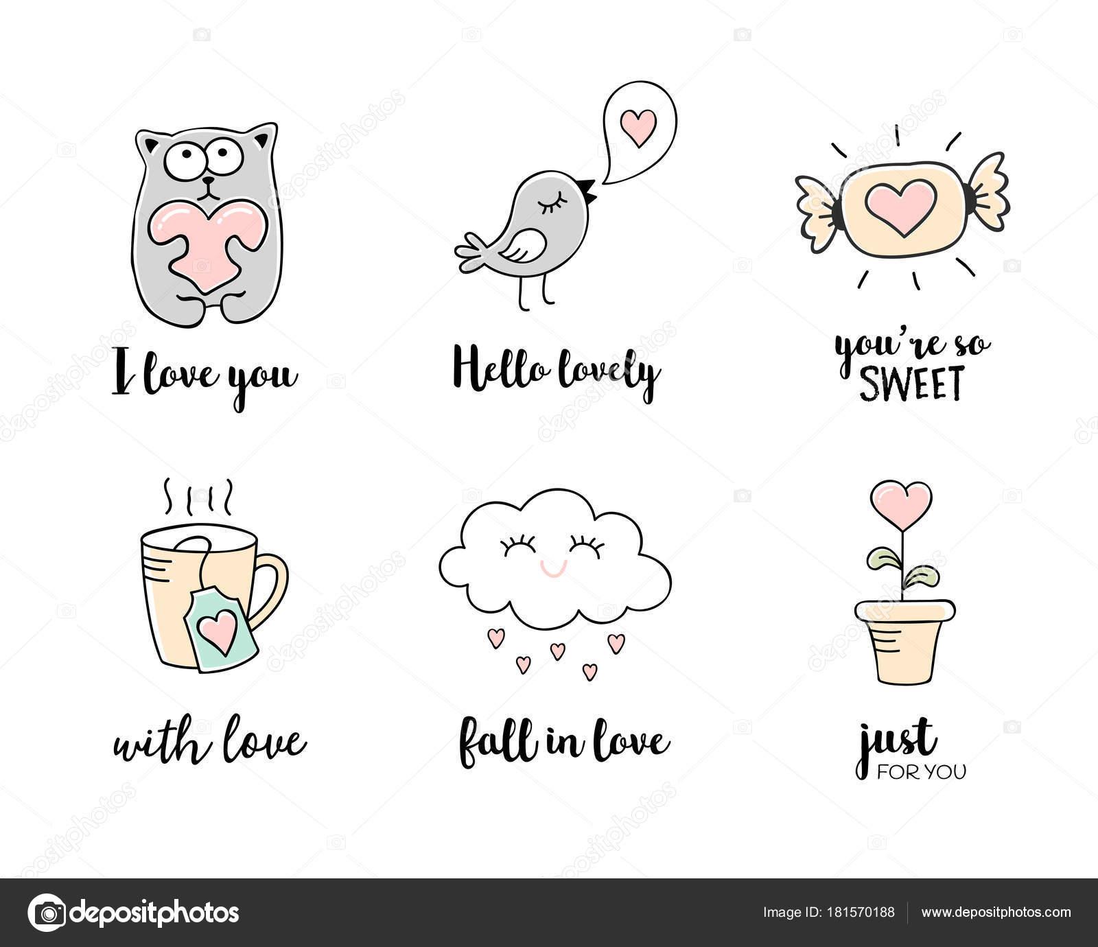 Laska Cmaranice Rucne Kreslene Symboly Lasky Valentines Den Citaty