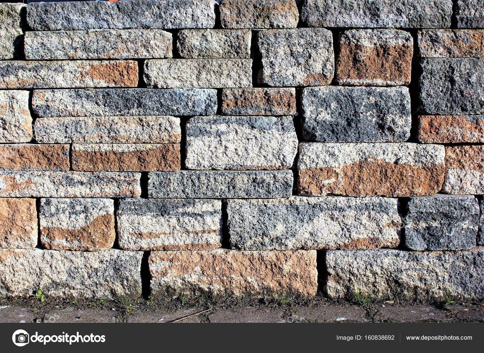 Stenen Muur Tuin : Een afbeelding van een stenen muur in de tuin u stockfoto