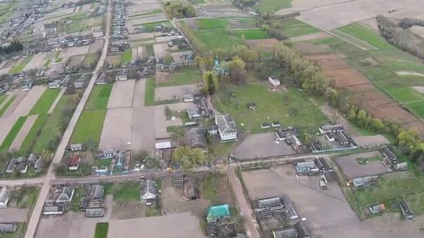 A légi felvétel a régi falu Ukrajnában