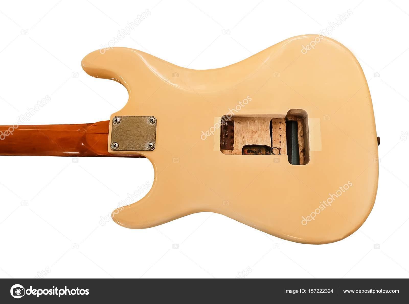 Parte posterior de la guitarra eléctrica sin controlador — Foto de ...