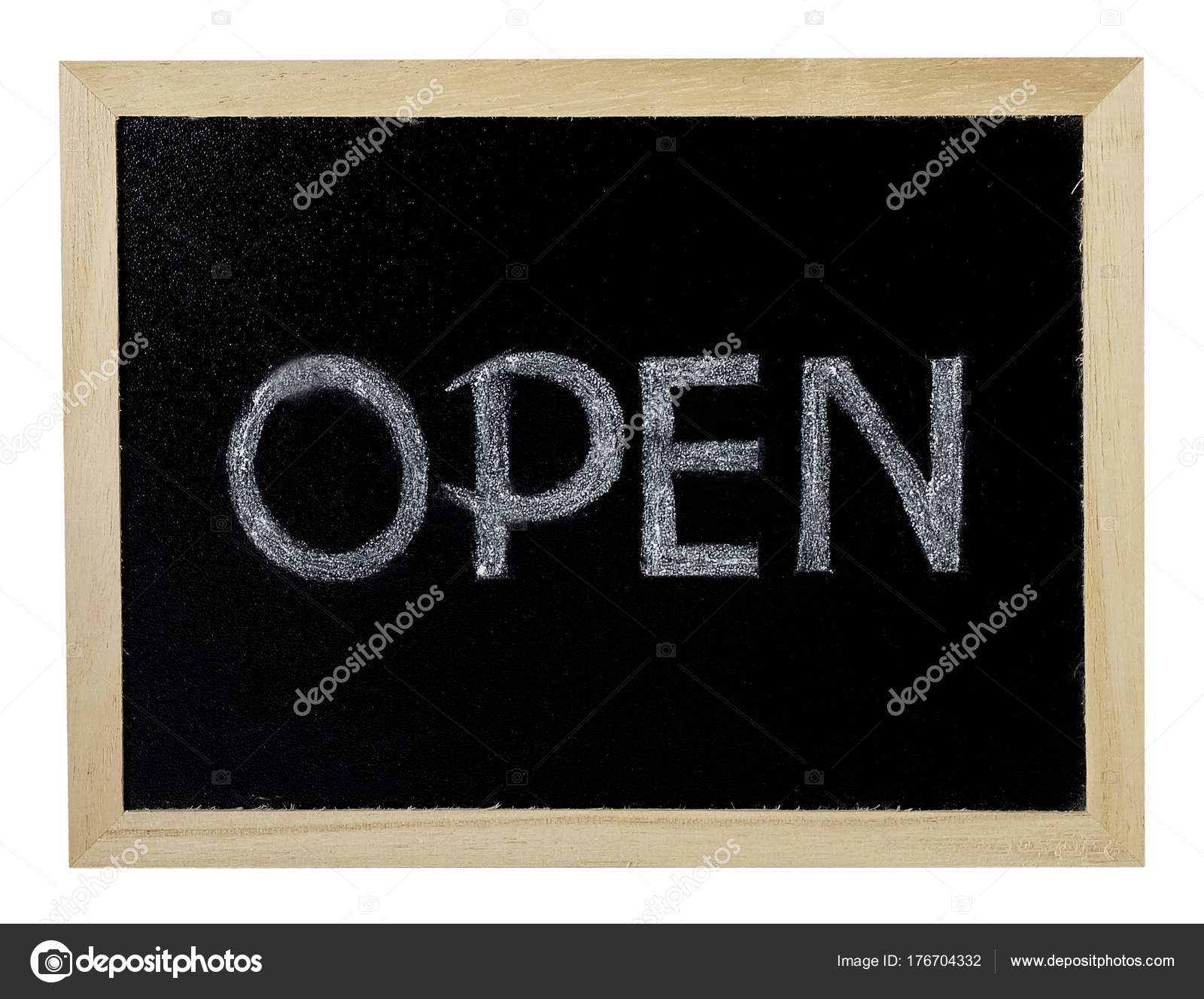 Schwarze Tafel Rahmen mit einem Schild \