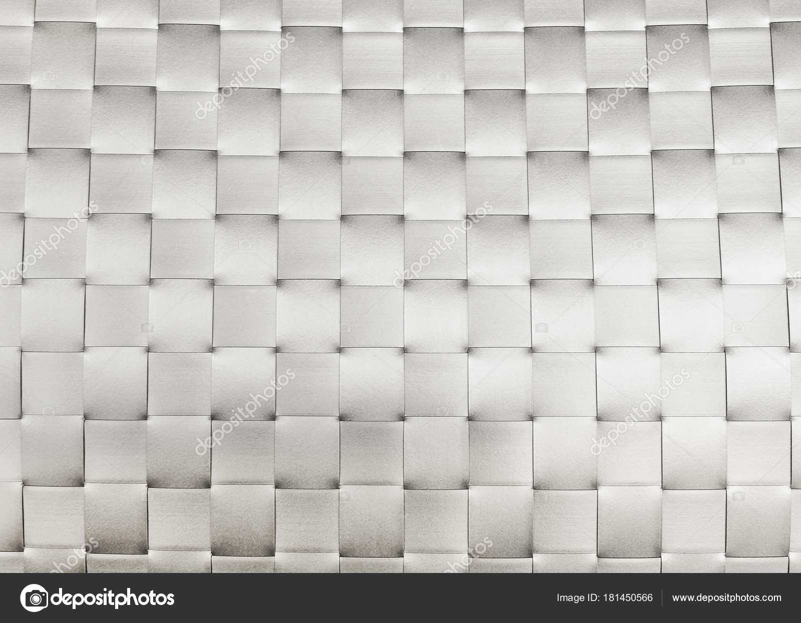 Patrón Fondo Plata Plástico Tejido Superficie Mimbre Textura Malla ...