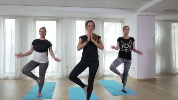 A jóga gyakorlása a fa asana jelent a nők