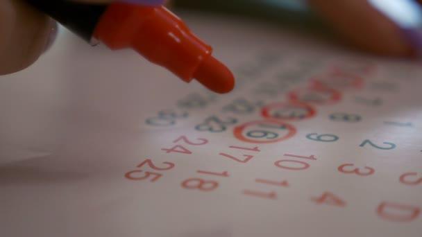 Női kézi jelölés időpontját naptár tervezés fogamzásgátló