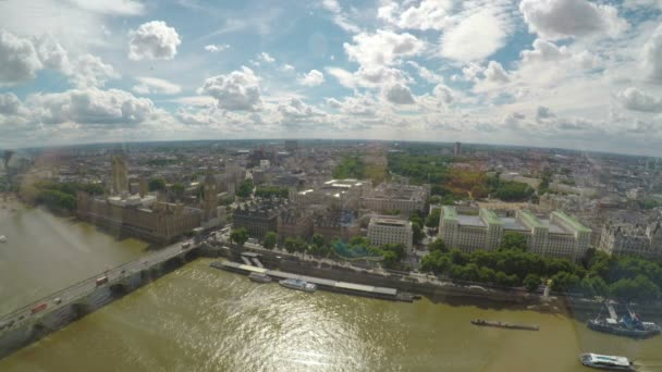 Amazing aerial panorama of Big Ben Westminster palace and Thames river concept of touristic London city