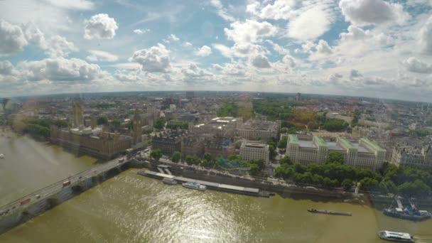 Úžasné letecké panorama Big Ben Westminsterského paláce a řeky Temže pojmu turistické město Londýn