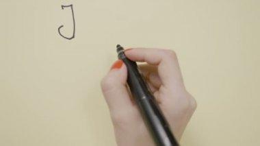 Bovenaanzicht vrouwelijke handen Y brief, coördinatenstelsel