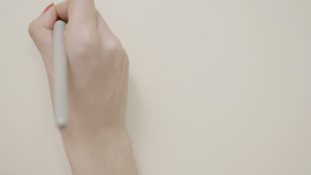 Young Teenager Girl Hands Writing Motivational Quote If You Can