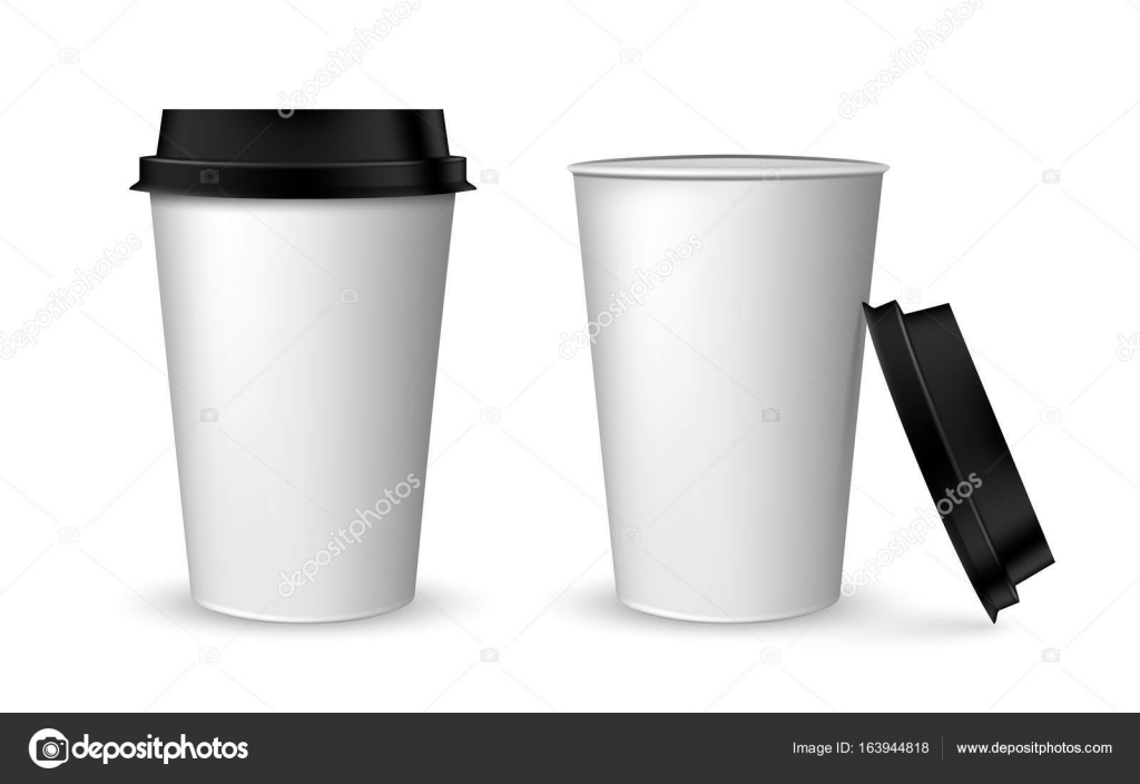 Blank Realistic Coffee Cup Mockup Realistic Paper Coffee