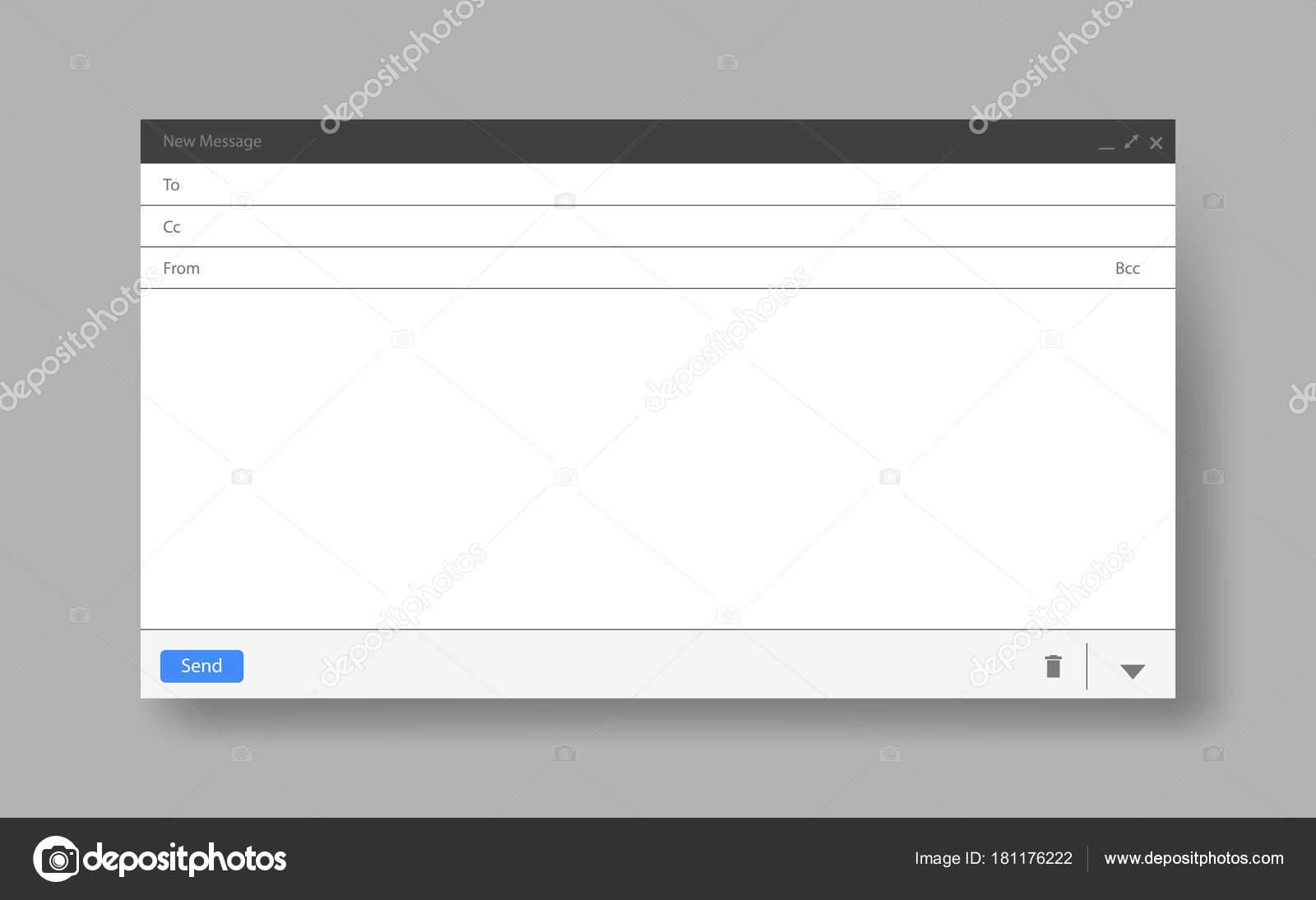 Leeres Fenster e-Mail-Vorlage-Vektor-illustration — Stockvektor ...