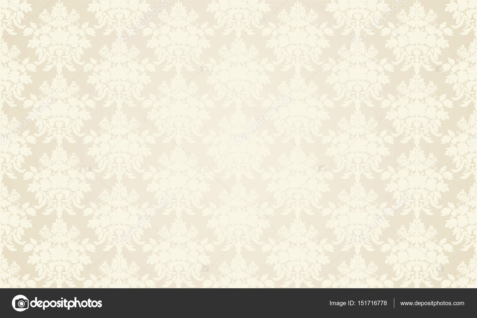 Beige Retro Wallpaper Background In Classic Style Vector By Mirchella