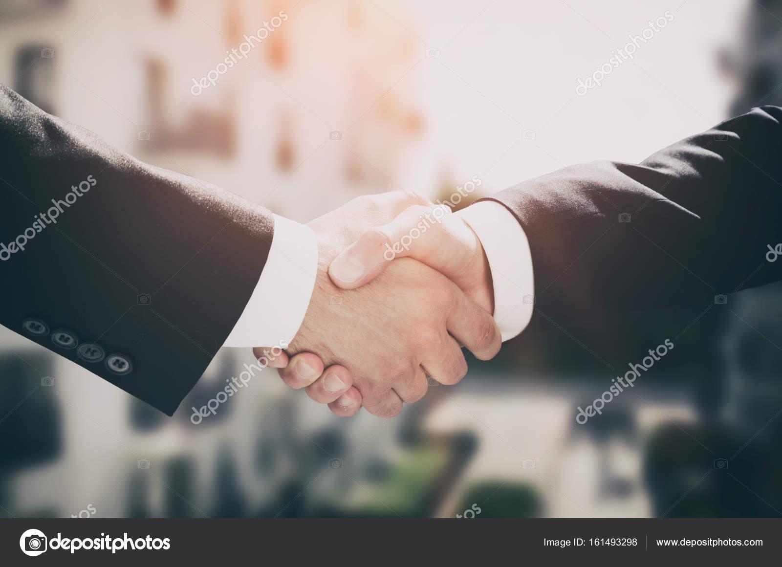 Business Handshake, Geschäftsvereinbarung Menschen — Stockfoto ...